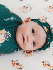 Dorothy Emerald Floral Hat or Headband