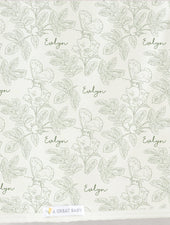 Farmhouse Toile Changing Pad Cover (multiple colors)