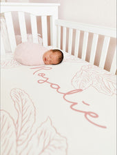Farmhouse Toile Crib Sheet (multiple colors)