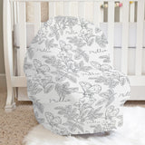Farmhouse Toile Gray Car Seat Cover