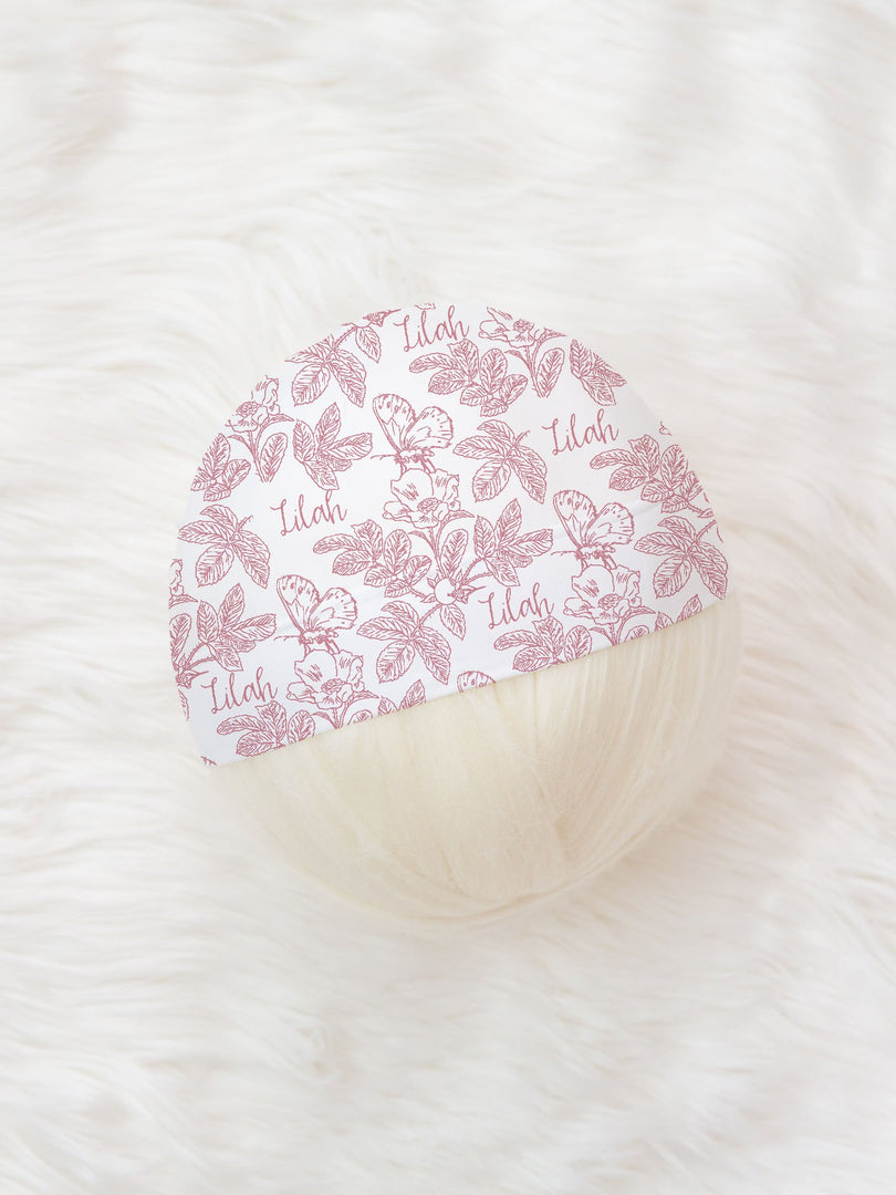 Farmhouse Toile Pink Hat or Headband