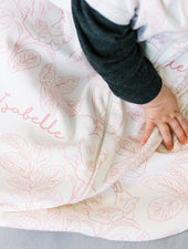 Farmhouse Toile Pink Sleeveless Sleep Sack