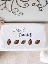 sports theme nursery changing pad cover personalized
