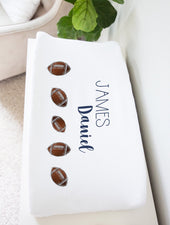 football nursery changing pad cover