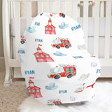 Frankie the Fireman Car Seat Cover