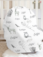 Gray Wildlife Car Seat Cover