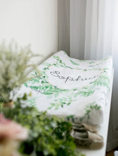 Greenery Changing Pad Cover