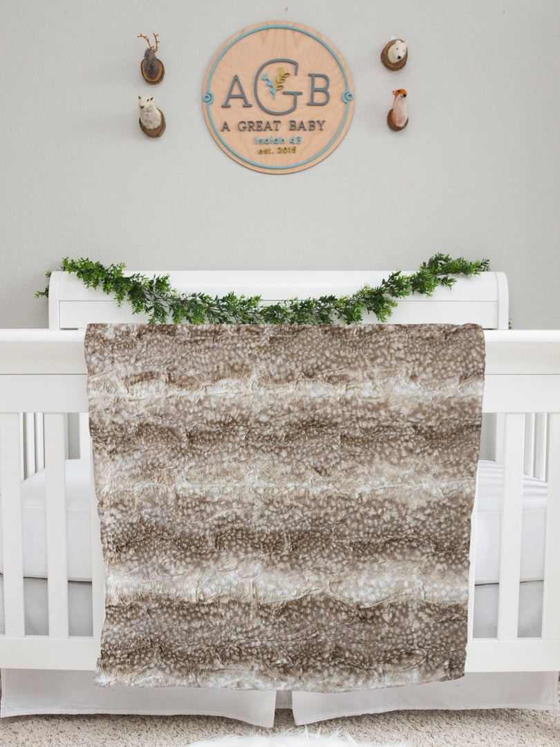 Harvest Floral Baby Deluxe Blanket