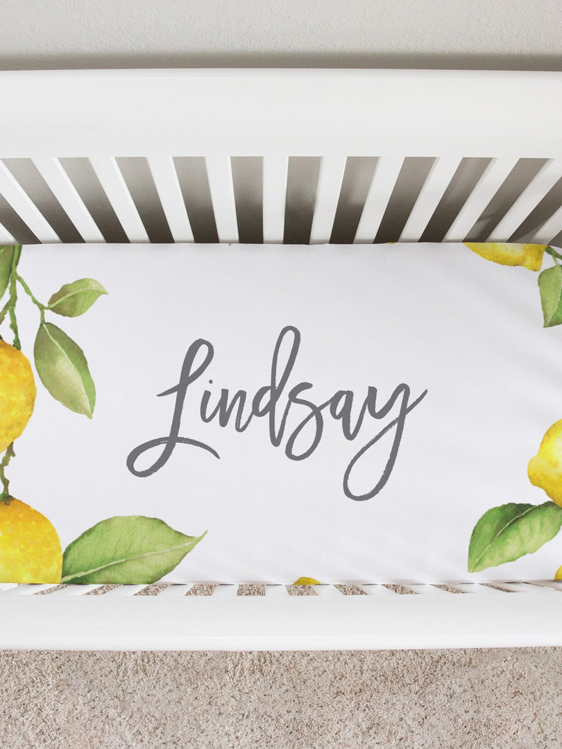 Lindsay Loves Lemons Crib Sheet
