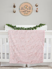 light pink minky fur baby blanket