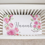 MaryAnne's Rose Garden Crib Sheet