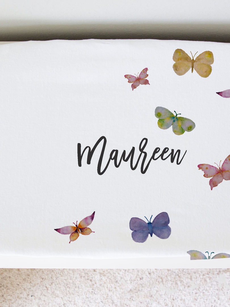Maureen's Butterfly Changing Pad Cover