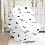 Modern Monotone Animals Car Seat Cover