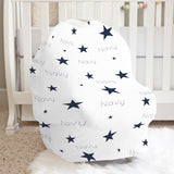 Navy Stars Car Seat Cover