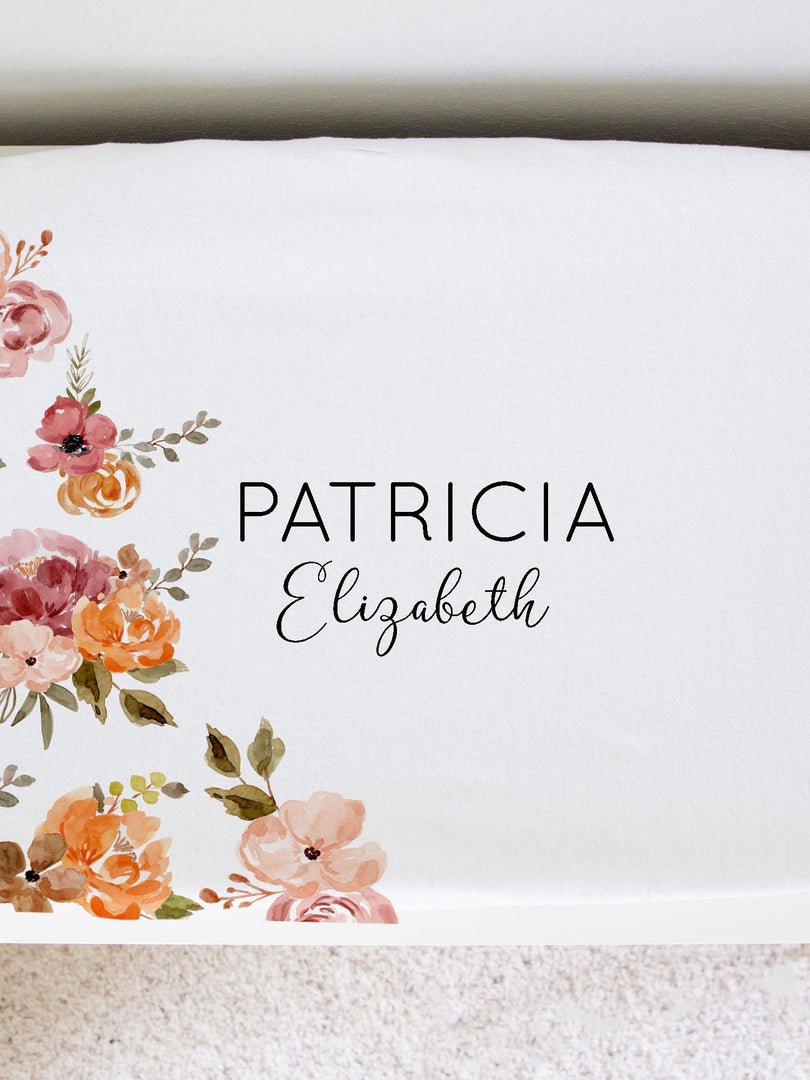 Patti's Rich Floral Changing Pad Cover