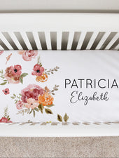 Patti's Rich Floral Crib Sheet