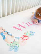 Peter Rabbit Girl Crib Sheet