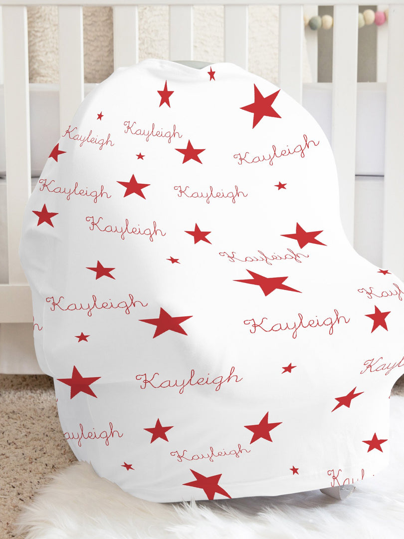 Red Stars Car Seat Cover