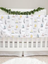 Sailboats Baby Deluxe Blanket