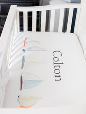 Sailboats Crib Sheet