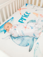 Sea Creatures Crib Sheet
