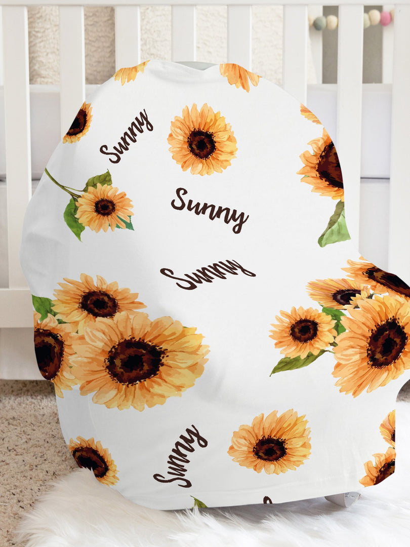 Sunflower Sue Car Seat Cover