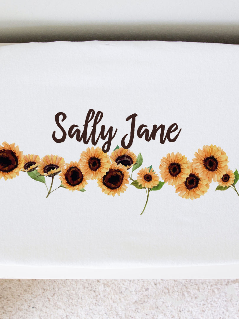 Sunflower Sue Changing Pad Cover
