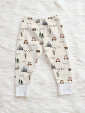 mountain print personalized pants for baby boy
