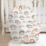 Tiny Wonders Rainbow Car Seat Cover