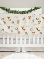 Woodland Faces Boy Baby Deluxe Blanket