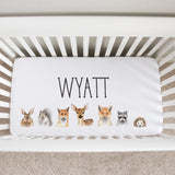 Woodland Faces Boy Crib Sheet
