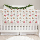 Woodland Faces Girl Baby Deluxe Blanket