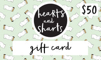SHARTY GIFT CARDS