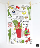 PERFECT BLOODY MARY RECIPE TEA TOWEL