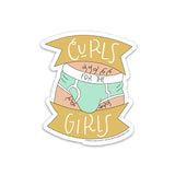 CURLS FOR THE GIRLS STICKER