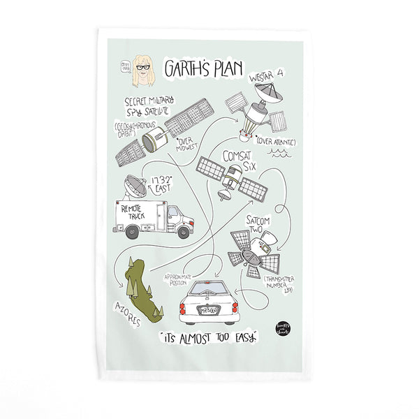 GARTH'S PLAN TEA TOWEL