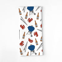 GRILLIN' AND CHILLIN' TEA TOWEL