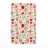 POMEGRANATE FLORAL TEA TOWEL