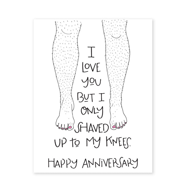 SHAVED TO KNEES - HAPPY ANNIVERSARY