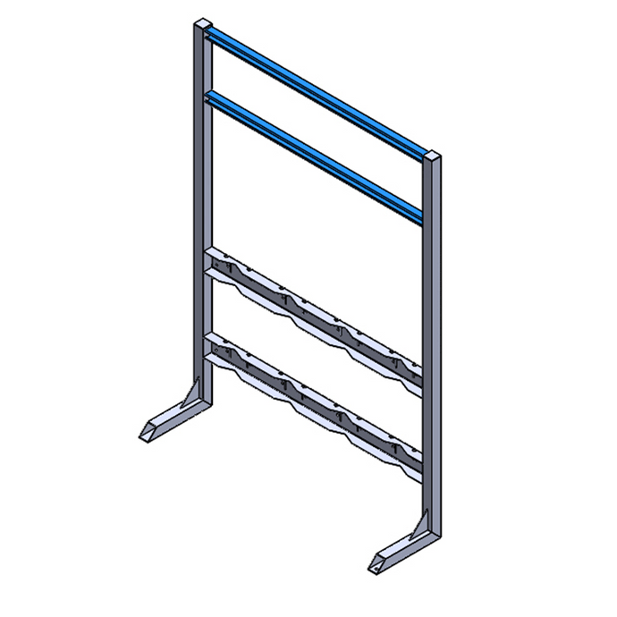 Process Station Gas Cylinder Rack (1x4)