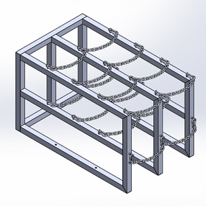 Gas Cylinder Barricade Rack (2x4)