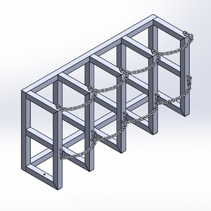 Gas Cylinder Barricade Rack (4x1)
