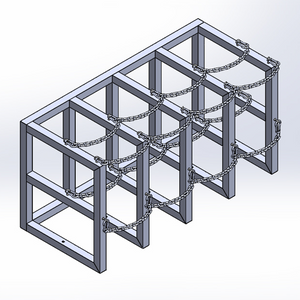 Gas Cylinder Barricade Rack (4x2)