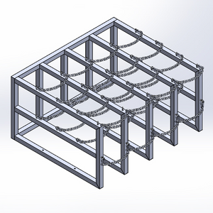 Gas Cylinder Barricade Rack (4x4)