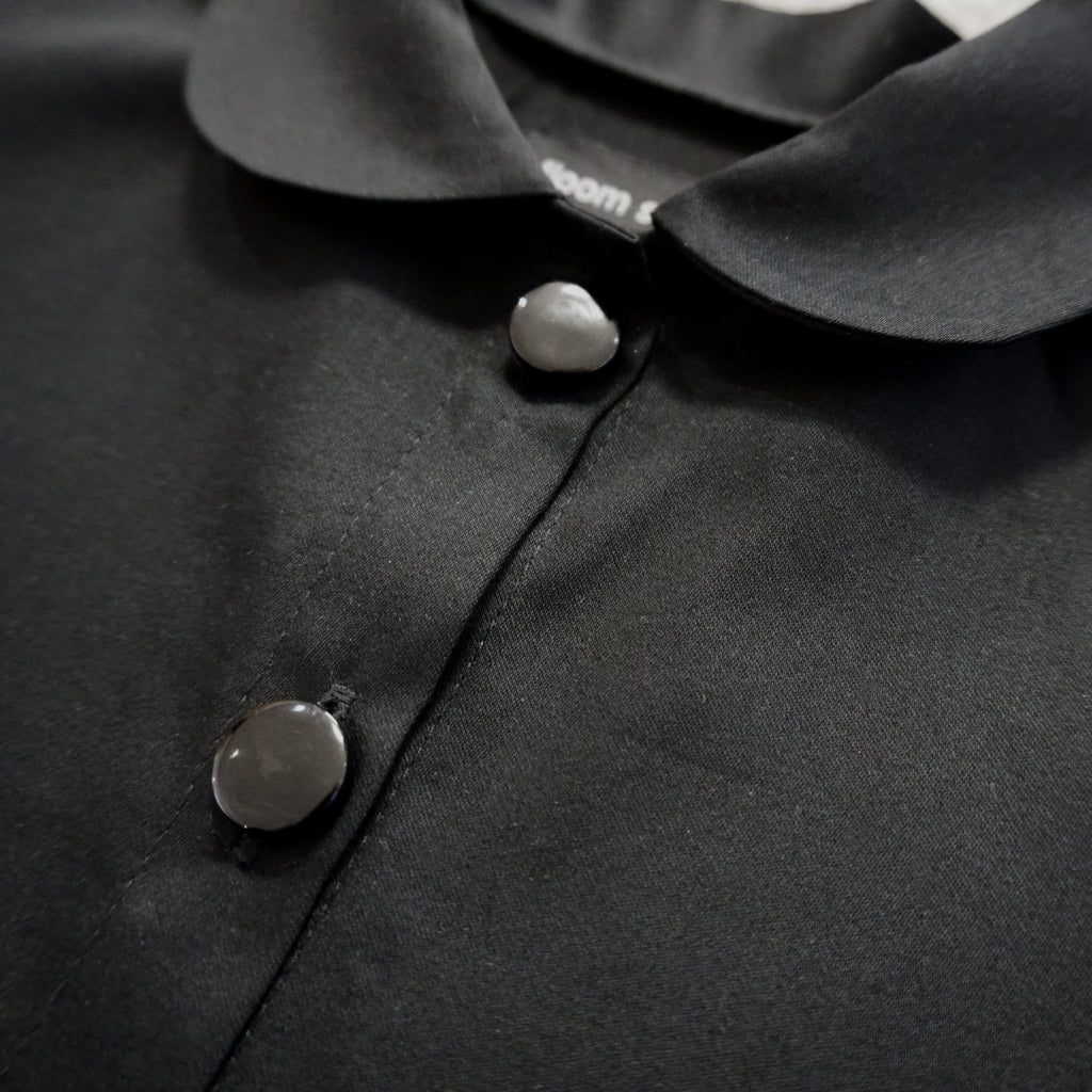 Black satin shirt