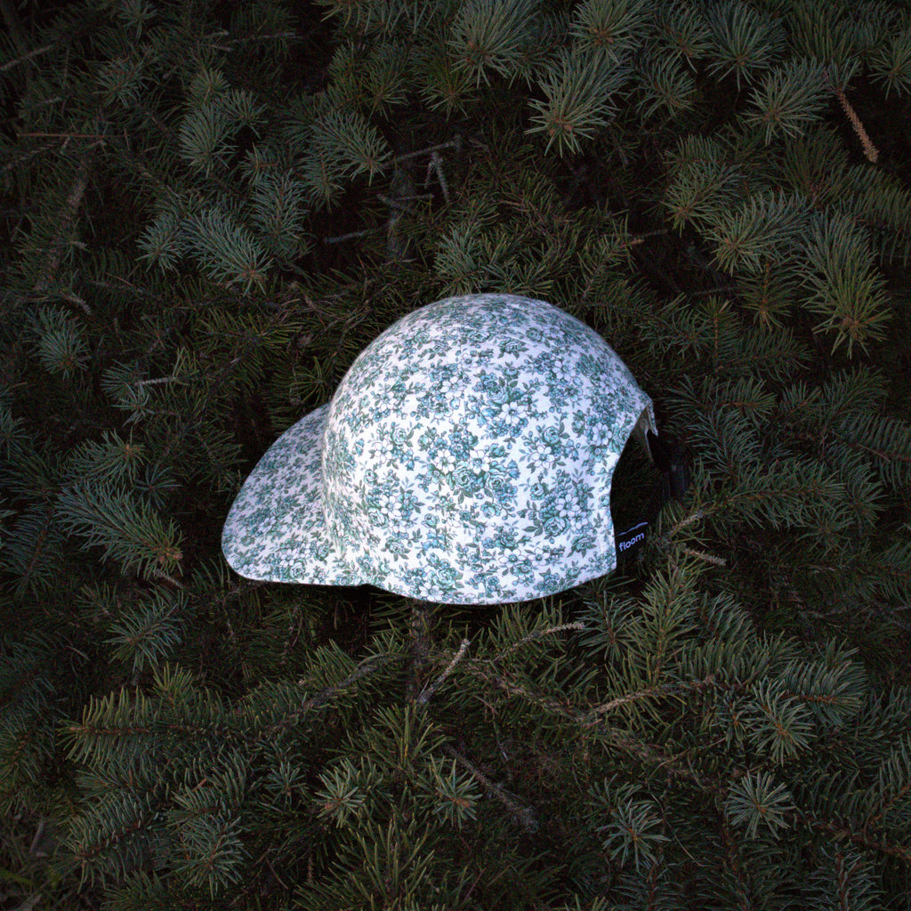 green flower cap 6-panel