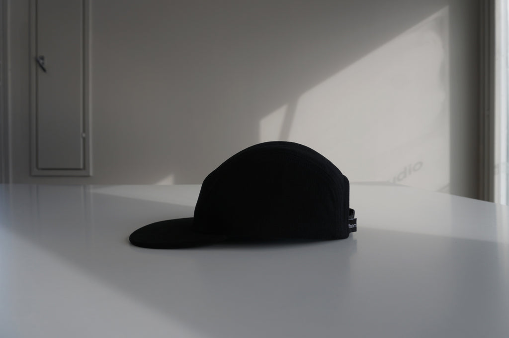 Black denim cap
