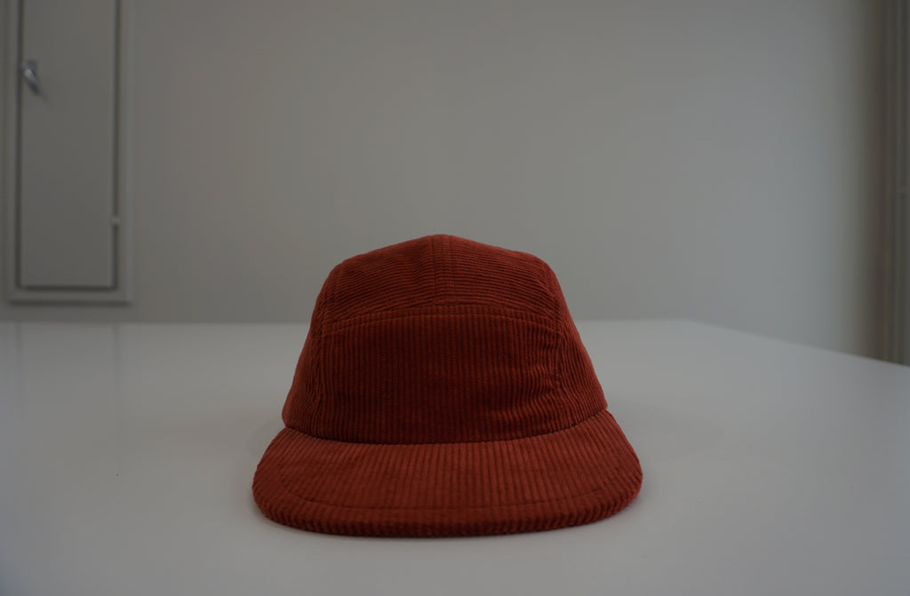 Rusty red corduroy cap