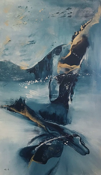 Sari Azulay, Acrylic and mixed media technique on canvas, 150 by 100 cm