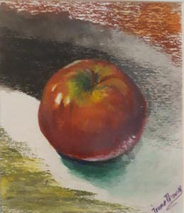 Irina Tversky Voskoboinik, Pastel colors on paper 20 by 17 cm